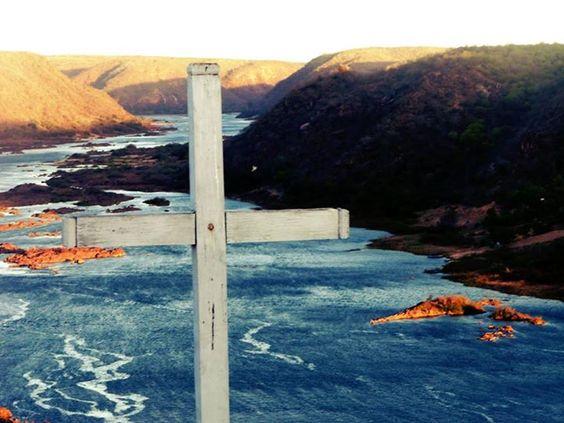 Vista de cima da escadaria da Igreja de nosso senhor do Bonfim ( Rio são Francisco Abaixo) em Piranhas, Alagoas - Brazil