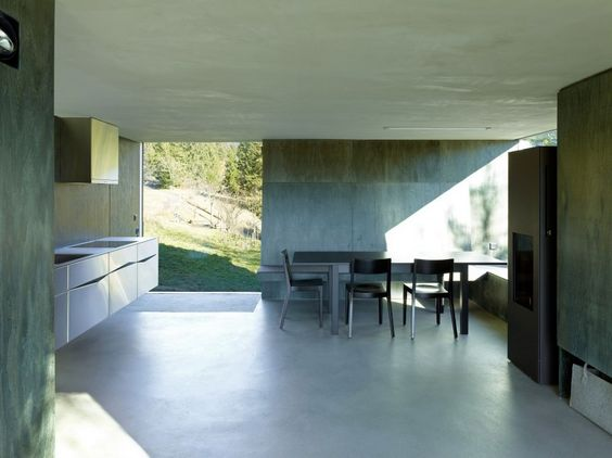 Barn Converted into Minimalist Holiday House in Ayent, Switzerland - http://freshome.com/2014/07/16/barn-converted-into-minimalist-holiday-house-in-ayent-switzerland/