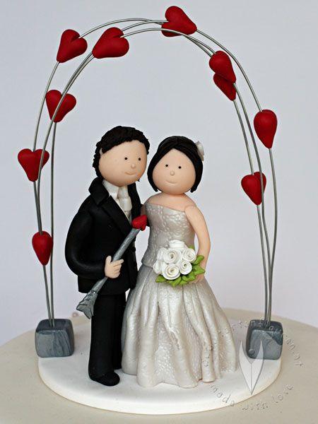 Tortenfiguren Brautpaar für die Hochzeitstorte von www.tortenfiguren.at