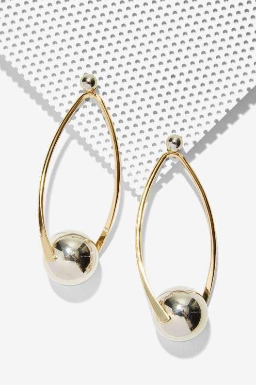 Illusion Metallic Earrings