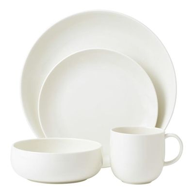 awesome Royal Doulton Mode White 4 Person Dinner Set