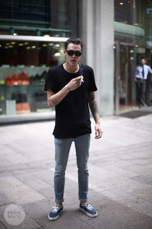 Black T Shirt Outfit Men | Is Shirt