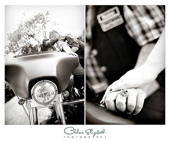 motorcycle engagement details by Chelsea Elizabeth Photography, via Flickr
