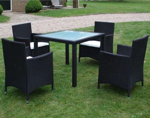 9-tlg. poly rattan gartenmöbel-set essgruppe sitzgruppe, Garten und Bauen