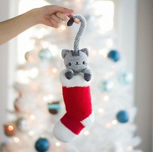 손뜨개인형도안 크리스마스 고양이 네이버 블로그 크로셰 크리스마스 크리스마스 양말