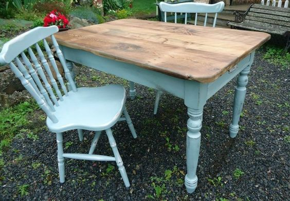 Kijiji shabby chic table and chairs design pinterest for Table 6 chaises kijiji