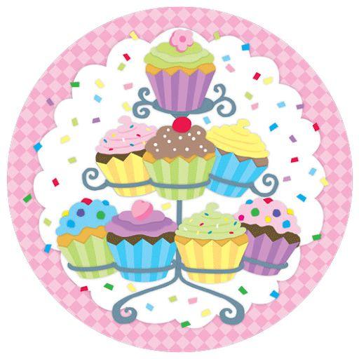 Decoraciones de cupcakes imagenes y dibujos para imprimir - Marcos para laminas grandes ...
