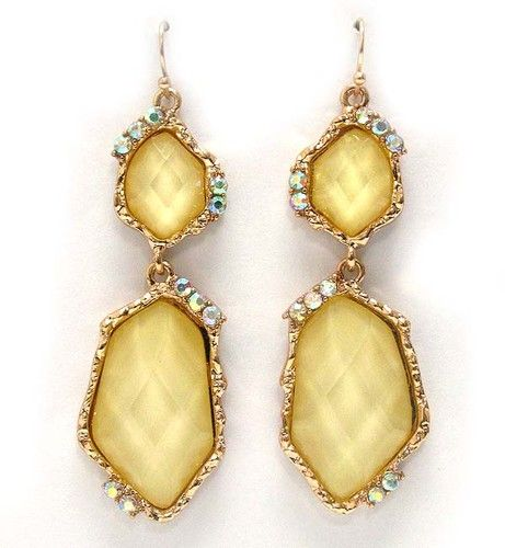 GORGEOUS LEMON DROP EARRINGS! $13.00 AND FREE SHIPPING!