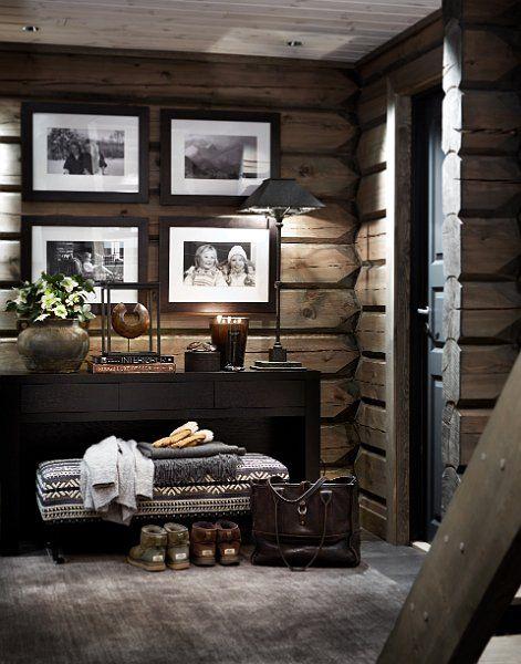 Mountain Cabin (Stockholm Vitt - Interior Design) | Stockholm, Cabin and  Interiors
