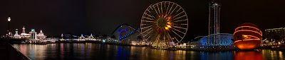 Manifesting the Magic: Panoramic Paradise: DCA at night
