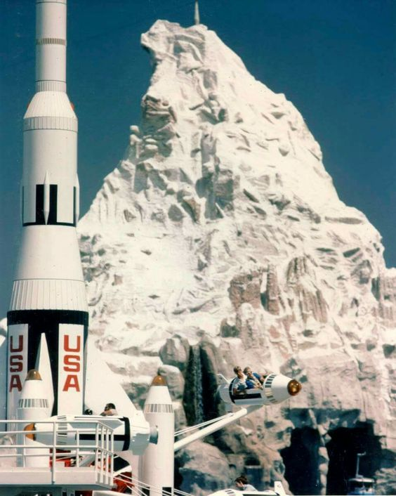The Matterhorn and jets in the 1960's.