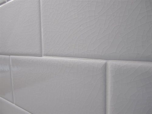 Hampton White Adex Crackle 3x6 Subway Backsplash Tile