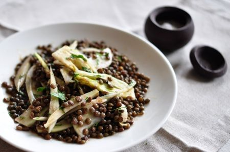 lentil & fennel salad