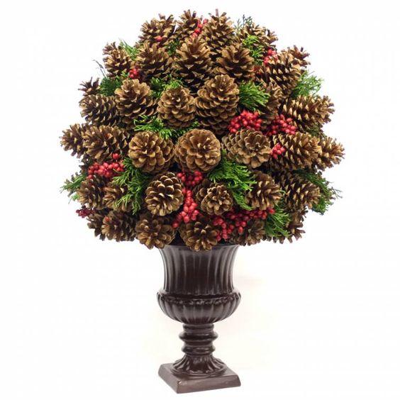 Pine cone centerpiece christmas pinterest forever