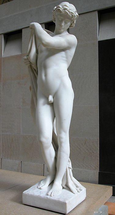 Paul Dubois, Narcissus, 1867, marble, Musée d'Orsay, Paris: