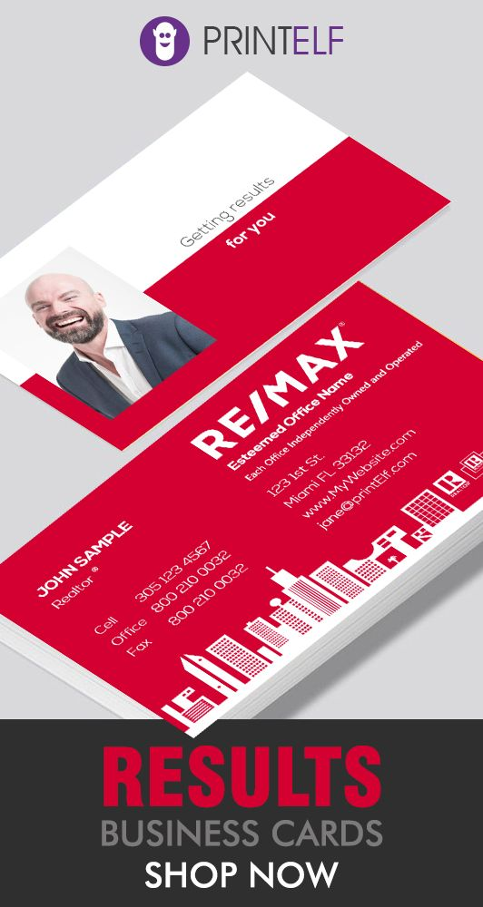 Remax Business Cards That Bring Results Customize The Free Designs To Your Needs Business Card Inspiration Business Cards Creative Business Card Size