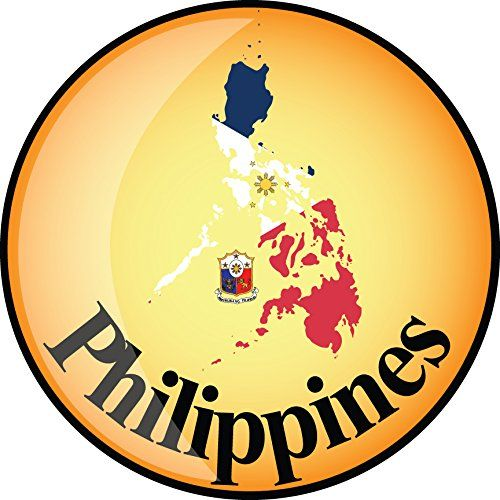 Philippines Map Flag Glossy Label Home Decal Vinyl Sticker 12 X 12 More Info Could Be Found At The Image Url It Glossy Labels Philippine Map Vinyl Sticker