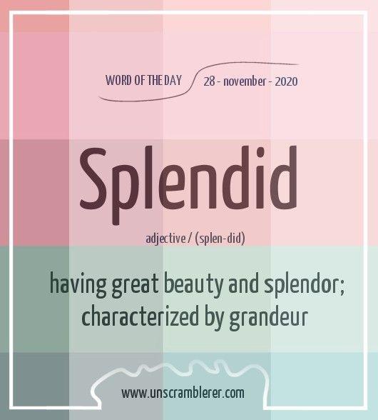 Splendid Uncommon Words Good Vocabulary Words Unusual Words