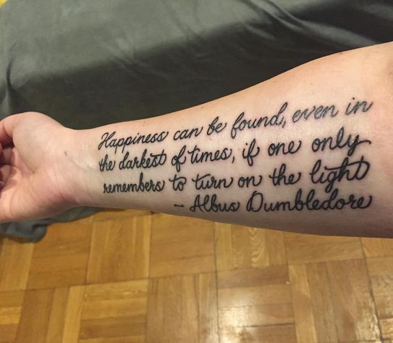 cool 85 Phenomenal Harry Potter Tattoo Ideas - Where Fantasy Meets Body Art! Check more at http://stylemann.com/best-harry-potter-tattoo-ideas/