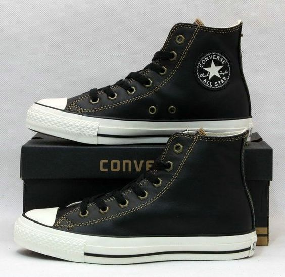 Converse Leather Sneakers Hi Black