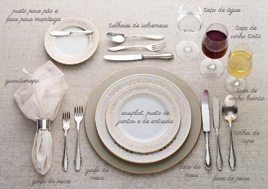 Mesa posta para jantar formal