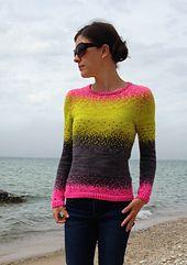 Ravelry: Pixelated Pullover pattern by Jennifer Beaumont #MiniSkeinMonday