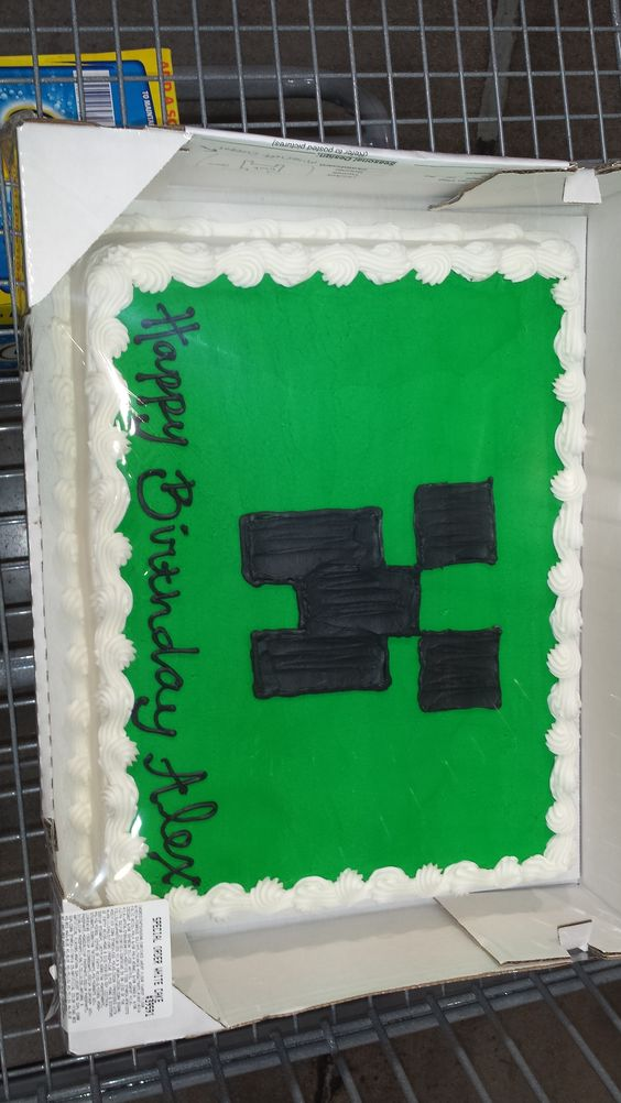 Minecraft Creeper Cake from Costco Party Ideas ...