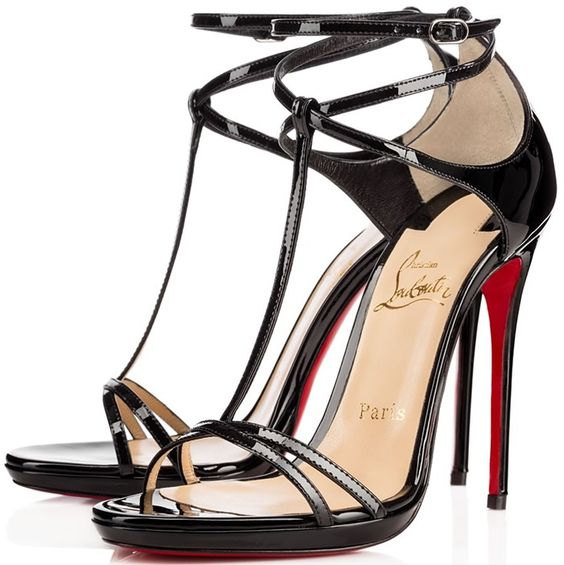 christian louboutin gold strappy heels