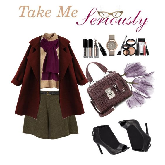 """Take Me Seriously"" by elyzhabella99 ❤ liked on Polyvore featuring H&M, Marc by Marc Jacobs, Lord & Taylor, Bobbi Brown Cosmetics, Miu Miu, Laura Geller and Ateljé"