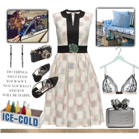 A fashion look from September 2016 by elza6 featuring Lattori, Maison Close, Nancy Gonzalez, NOVICA, Leica en Odette