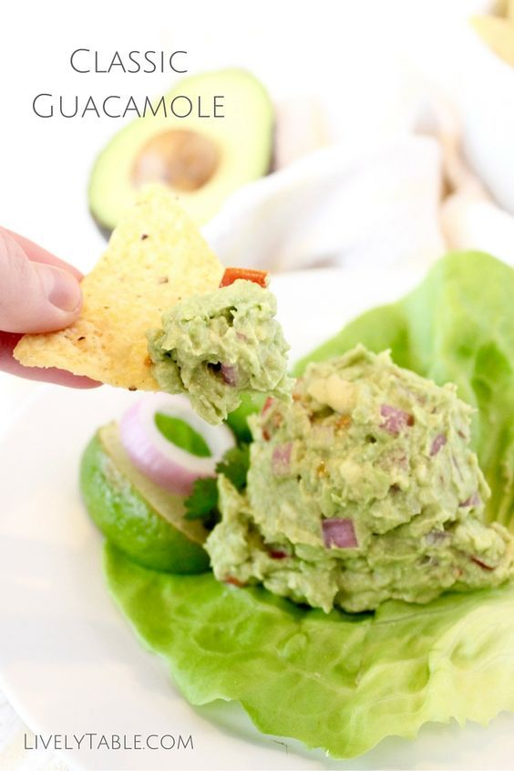 Classic Guacamole | A recipe for classic guacamole that is quick and easy to make with just a few simple and healthy ingredients! It's the perfect dip to go with any Mexican dish. | Via LivelyTable.com
