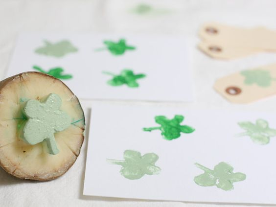 DIY clover stamp