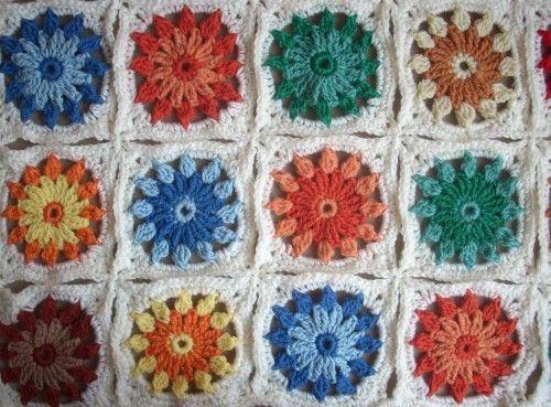 Crochet - blanket. Kocyk szydełkowy kolorowy Sesja foto