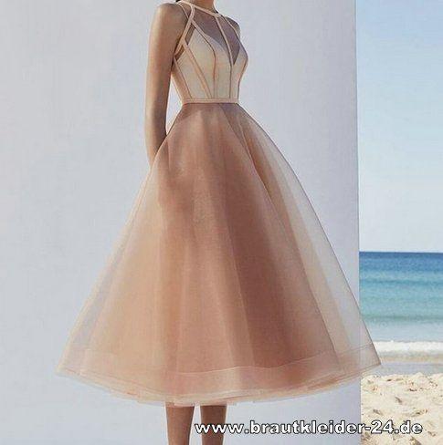 Standesamt Mode A Linie Standesamtkleid Wadenlang In Champagne Brautkleider Und Accessoires Gunstig Online Kaufen Brautmode Heira In 2020 Abendkleid Kleider Mode