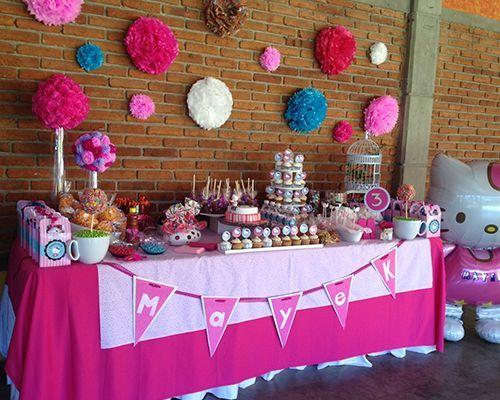 Mesa de dulces para fiesta infantil party diy for Como decorar mesa de postres para baby shower