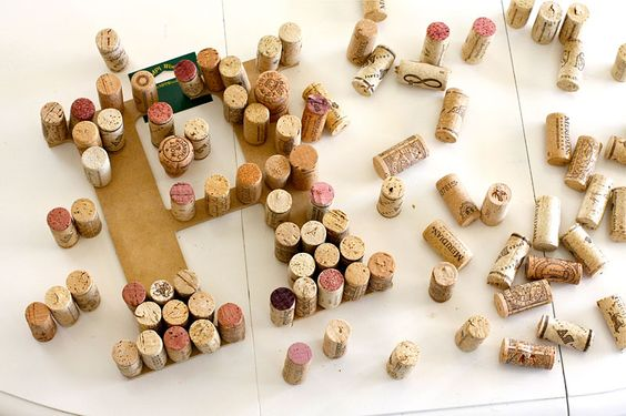 Now the wine corks have a purpose!  Can't wait to make this for my kitchen!