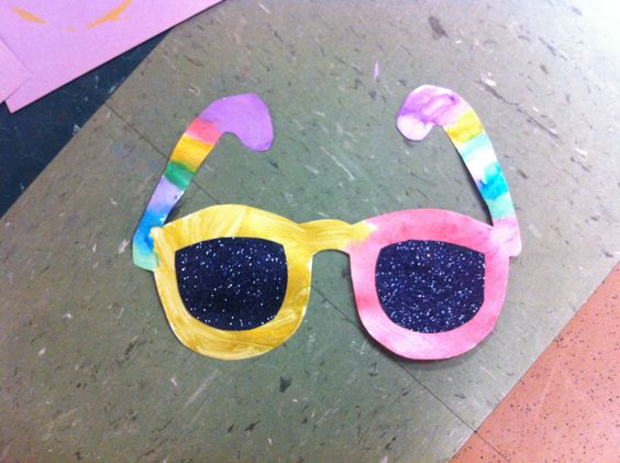 preschool craft ideas for summer summer sunglasses craft with black glitter lenses for 7071