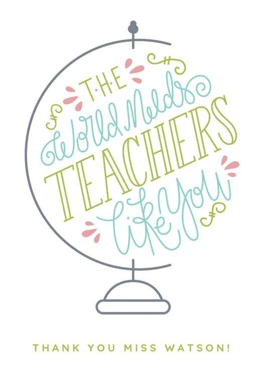 Worlds Best Teacher Thank You Card For Teacher Teachers Day Card Teacher Thank You Cards Teacher Cards
