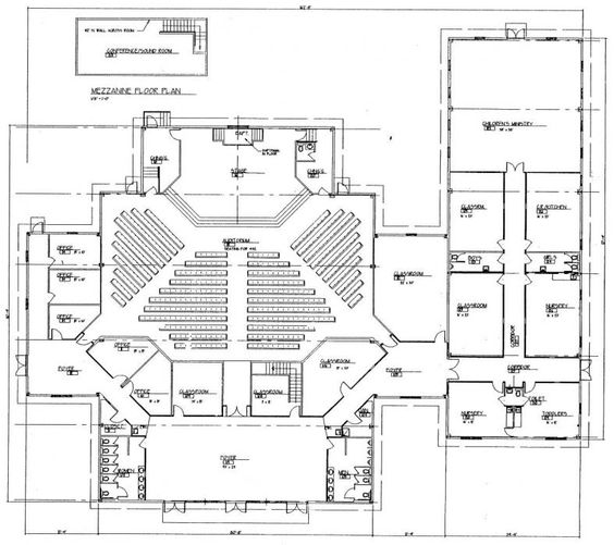 Church building plans church plan 150 lth steel for Church floor plan designs