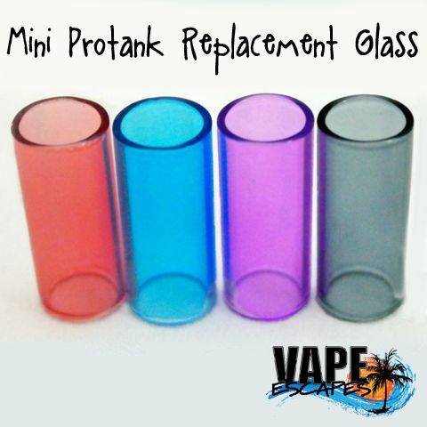 Kanger Protank Mini Replacement Glass.   If you happen to break one and need a new one or just happen to want to change the color, these will only work on authentic ProTank Minis.  *All hardware sales are final.