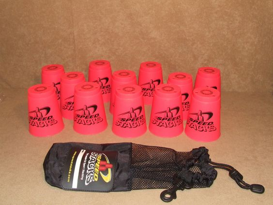 Speed Stacks Official Competition Cups x 12 Red With Official Carry Bag