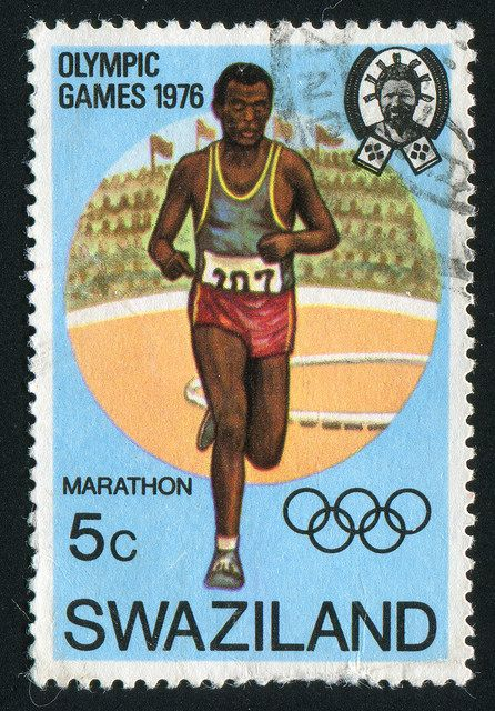SWAZILAND - CIRCA 1976: stamp printed by Swaziland, shows 21st Olimpic Games, Montreal, Canada.