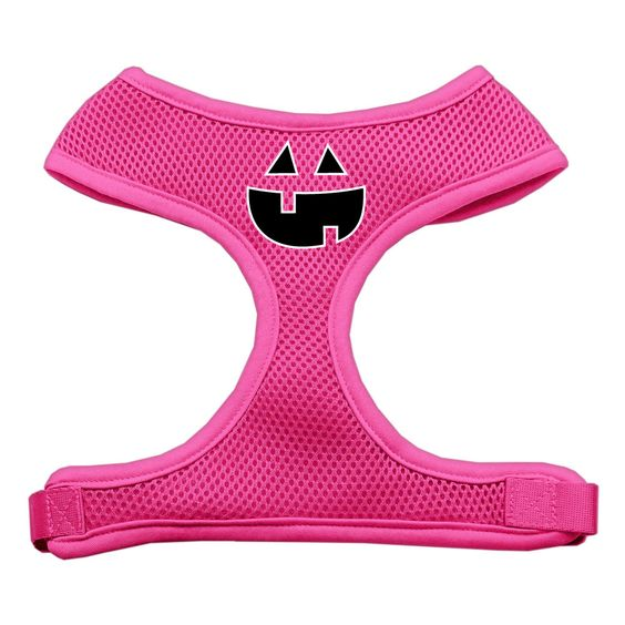Pumpkin Face Soft Mesh Dog Harness