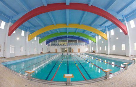 Olympic sized 25 meter indoor swimming pool nha be - Length of swimming pool in meters ...