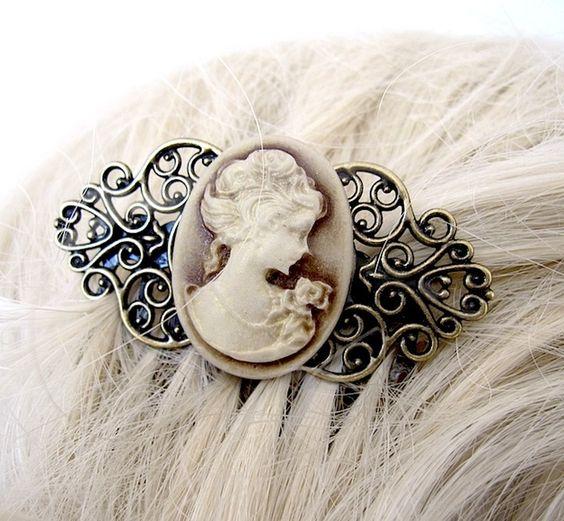 Haarkämme - LADY CARAMELA Haarkamm Haarschmuck - ein Designerstück von Elfenmanufaktur bei DaWanda
