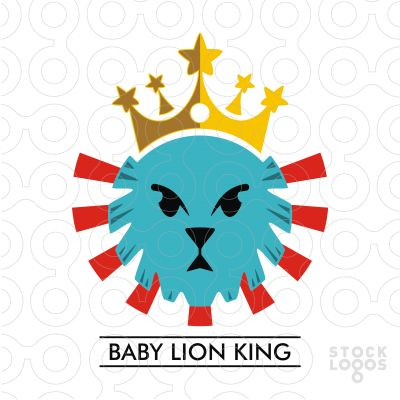 """""""Baby Lion King"""" from his father at a young age dominance of forests have a cute…"""