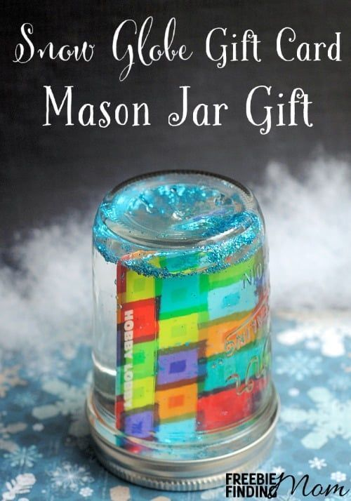 12 Days Of Diy Gifts In A Jar Snow Globe Gift Card Mason Jar Gift Jar Gifts Mason Jar Gifts Diy Mason Jar Gifts