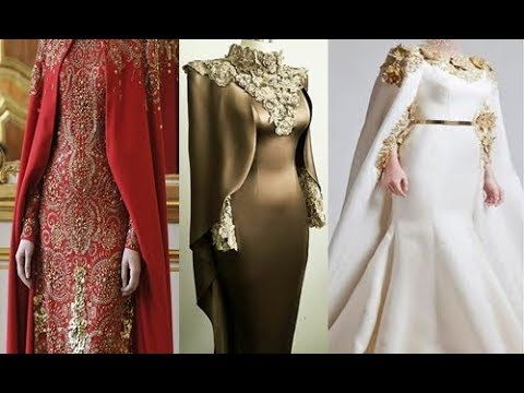 2019 Stylish Party Dresses With Capes ستايلات روعة لفساتين الحفلات بالكاب موضة Occasion Dresses Dresses