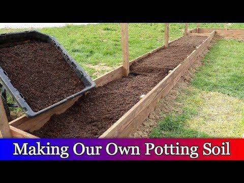 Raised Bed Garden Part 2 Making Potting Soil And Planting Our