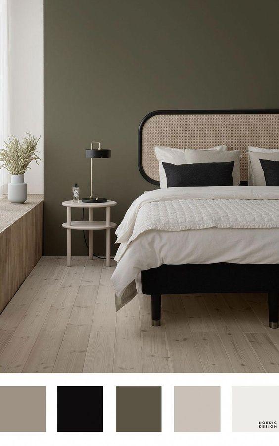 mooi hoofdbord achter bed